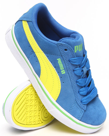 Puma Boys Blue Puma S Vulc Jr Sneakers (11-7)