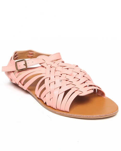 Fashion Lab - Women Light Pink Renee Braided Flat Sandal