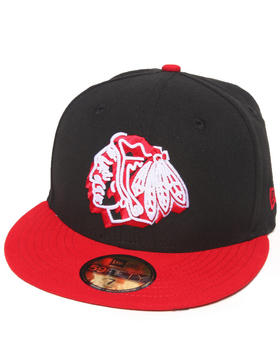 New Era - Chicago Blackhawks Neon Logo Pop 5950 Fitted Hat