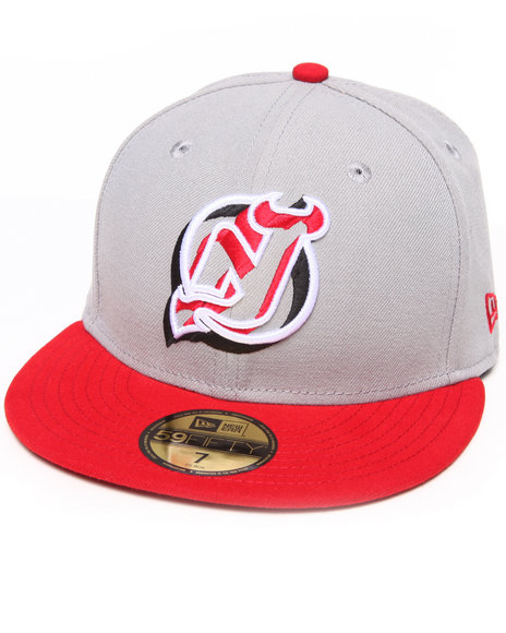 New Era - Men Grey New Jersey Devils Neon Logo Pop 5950 Fitted Hat