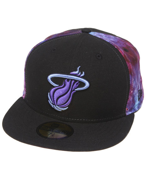 New Era Black Miami Heat Space Midder 5950 Fitted Cap