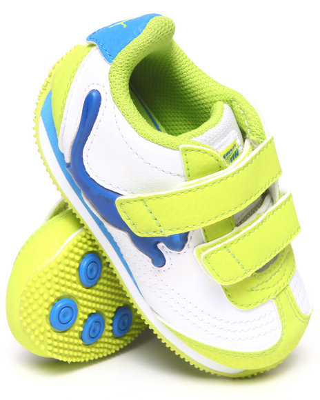 Puma Boys Lime Green Speeder Illuminescent Sneakers (5-10)