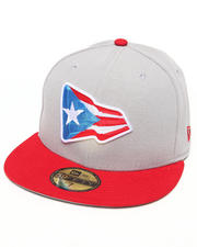 Men - Puerto Rico Country Colors Redux 5950 Fitted Hat