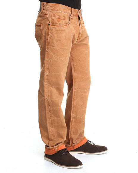 Rocawear - Men Tan Interior Color Weave Straight Fit Jeans