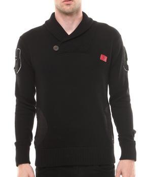 Well Established - Established rib Pullover Shawl Neck Sweatshirt