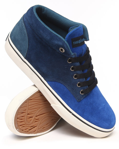 The Hundreds Blue Johnson Mid Sneakers