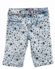 Sizes 7-16 - Big Kids - STAR PRINT BERMUDA SHORTS (7-16)