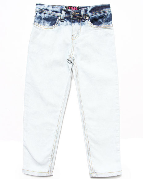 La Galleria Girls Light Wash Beach Dye Skinny Jeans (4-6X)