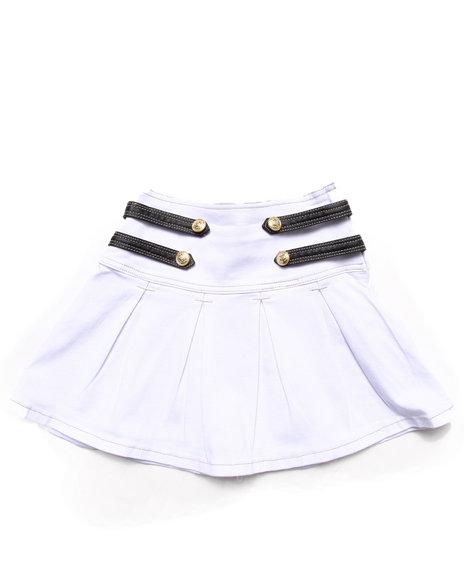 La Galleria - Girls White Military Pleated Skirt (7-16)