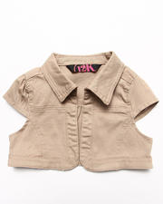 Sizes 7-16 - Big Kids - TWILL BOLERO JACKET (7-16)