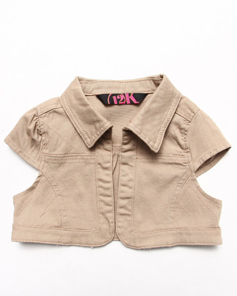 La Galleria Girls Khaki Twill Bolero Jacket (7-16)