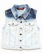 Sizes 7-16 - Big Kids - BEACH DYE DENIM VEST (7-16)