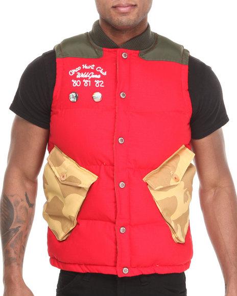 Akoo - Men Red Raghorn Puffer Vest