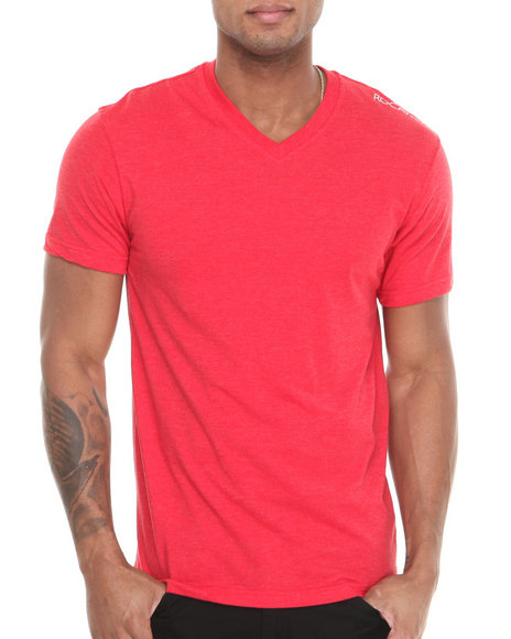 Rocawear - Men Red Volume Heathered V-Neck Tee - $13.99