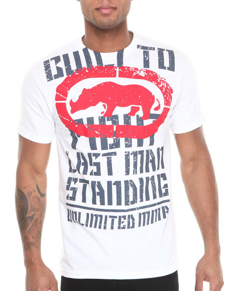 Ecko White Mma Bulit To Fight T-Shirt
