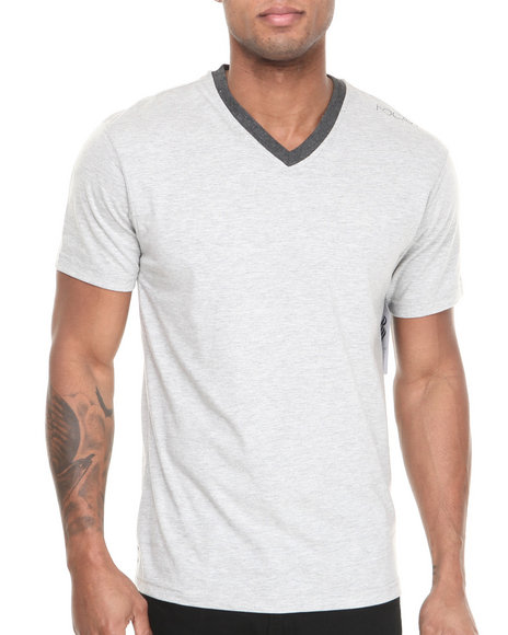 Rocawear Grey Volume Heathered V-Neck Tee