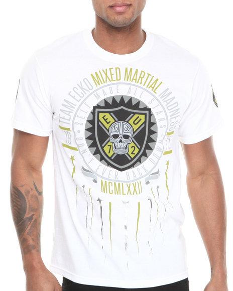 Ecko - Men White Mma Shoot For The Stars T-Shirt