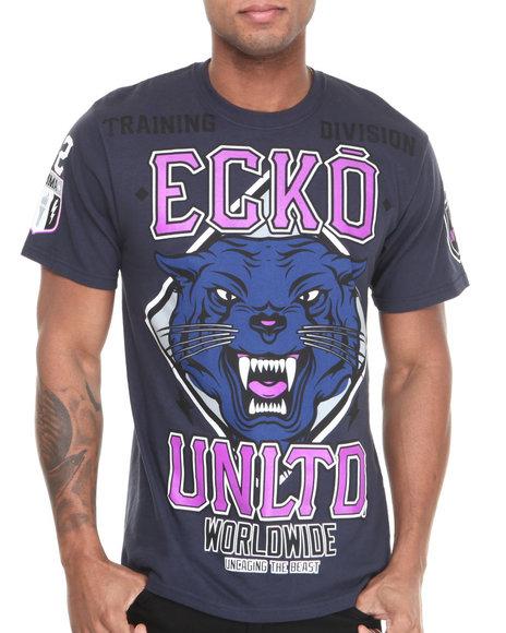 Ecko Navy Mma Big Cats T-Shirt