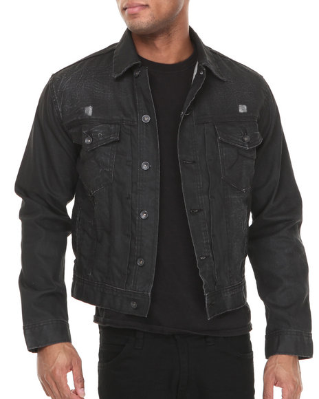Rocawear - Men Black Volume Denim Jacket