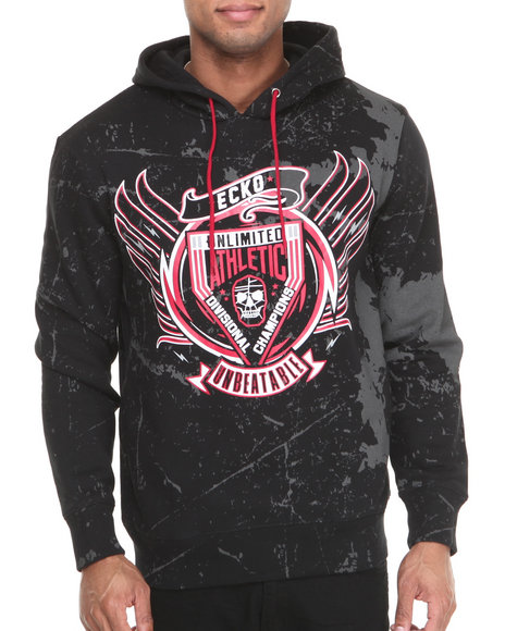 Ecko - Men Black Mma Unbeatable Pullover Hoodie