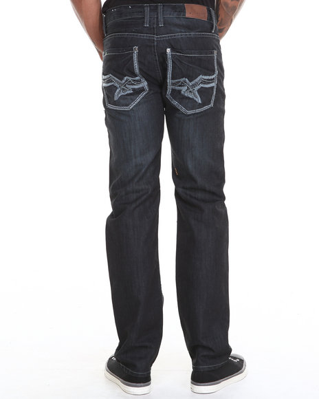Basic Essentials - Men Dark Wash Mercer Denim Jeans With Belt