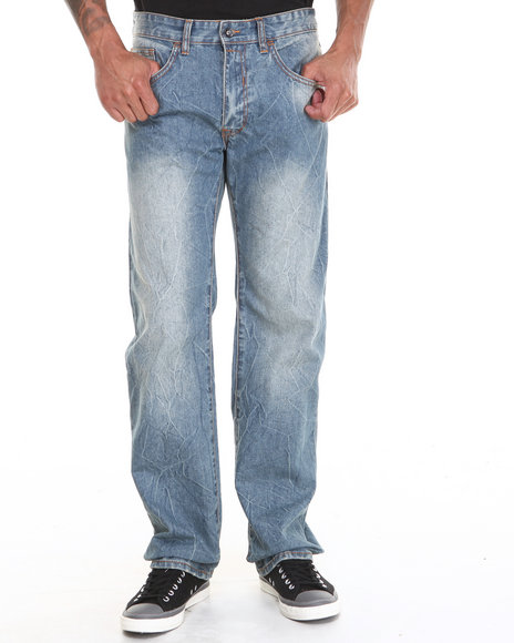 Rocawear - Men Light Wash Volume Classic Fit Denim Jeans