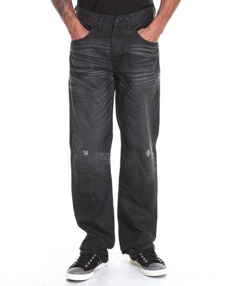 Rocawear - Men Black Volume Classic Fit Denim Jeans