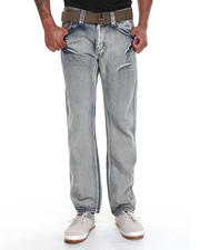 Men - Ariz Bleach Denim jeans with Belt