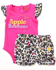 Girls - 2 PC SET - BODYSUIT & BLOOMERS (NEWBORN)