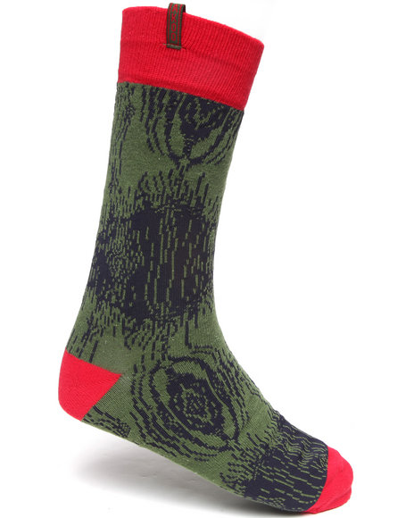 Akoo Button Buck Socks Multi