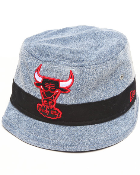 New Era Men Chicago Bulls 90'S Nod Bucket Hat Grey Large