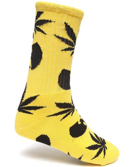 Huf Huf X Wu-Tang Plantlife Socks Yellow