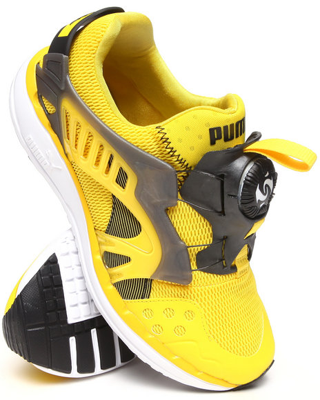 Puma - Men Yellow Ftr Disc Lite Tech Sneakers