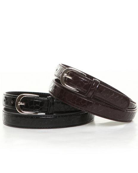 XOXO Black,Brown Solid Belt Duo