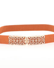 Accessories - Gold Laced Cognac Belt