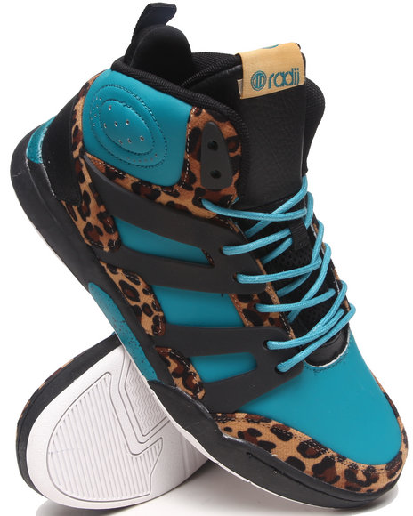 Radii Footwear - Men Animal Print,Black Heights Sneakers