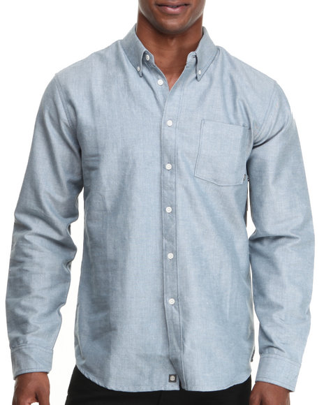 Element - Men Indigo Ron L/S Oxford Button-Down