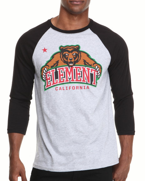 Element - Men Black Bear 3/4 Sleeve Raglan Tee