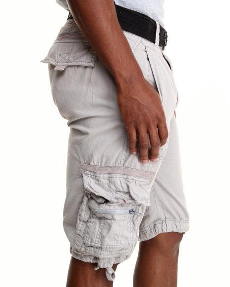 Basic Essentials - Men Grey Multi Pocket Cargo Shorts - $13.99