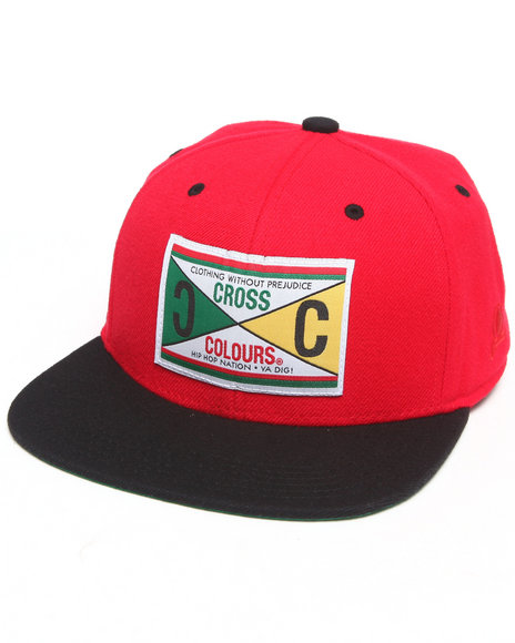Cross Colours Retro 89 Label Snapback Hat Red