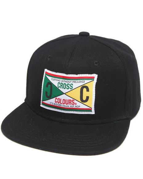 Cross Colours Retro 89 Label Snapback Hat Black