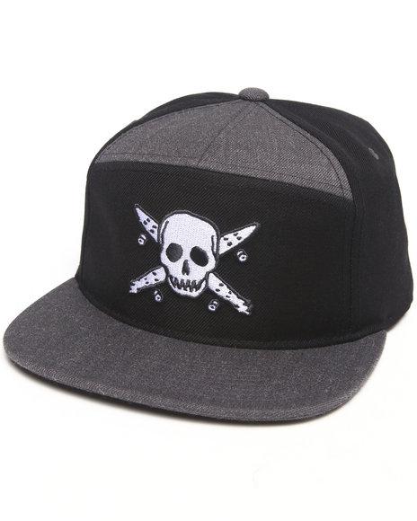 Fourstar Pirate Arch Snapback Cap Black