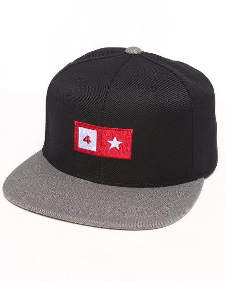 Fourstar Bar Snapback Cap Black