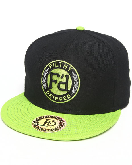 Filthy Dripped Men Volt Snapback Black