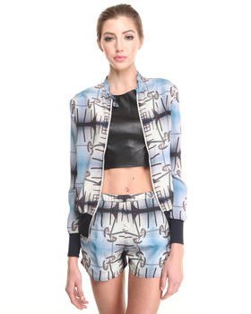 Light Jackets - Spain  Print Silk Jacket
