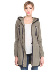 Jackets & Coats - CANVAS COAT W/ ZIP DETAIL