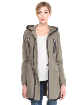 Armani Jeans - CANVAS COAT W/ ZIP DETAIL