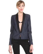 Armani Jeans - DENIM BLAZER W/ BLACK LAPEL