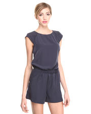 Jumpsuits - Silk Romper w/ Belt