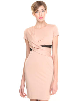 Armani Jeans - Jersey Draped Dress w/ Belt